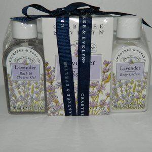 Original Crabtree & Evelyn Lavender Bath Set